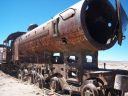 Poetry at the Train Graveyard, Bolivia